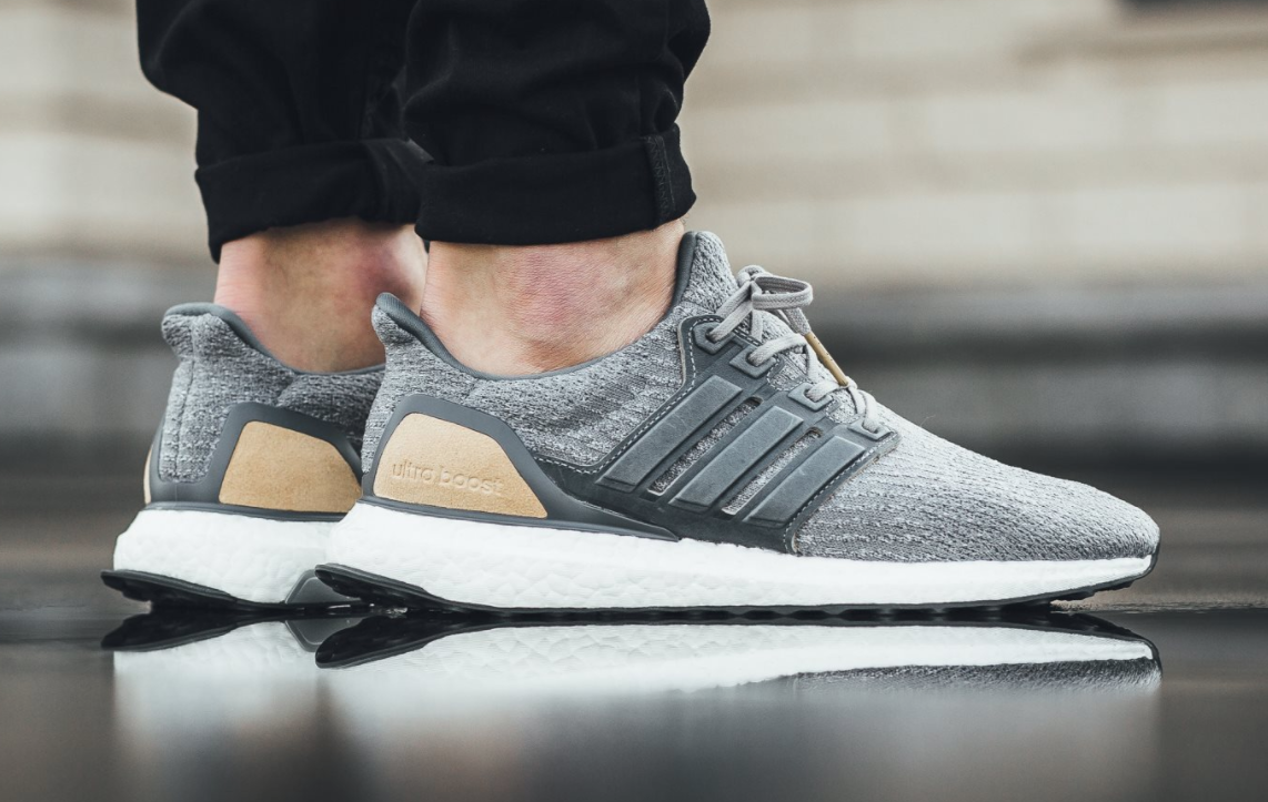 Leather Suede Details On The Upcoming Adidas Ultra Boost 3 0 Grey Tan Kicksonfire Com Adidas Ultra Boost Adidas Adidas Store