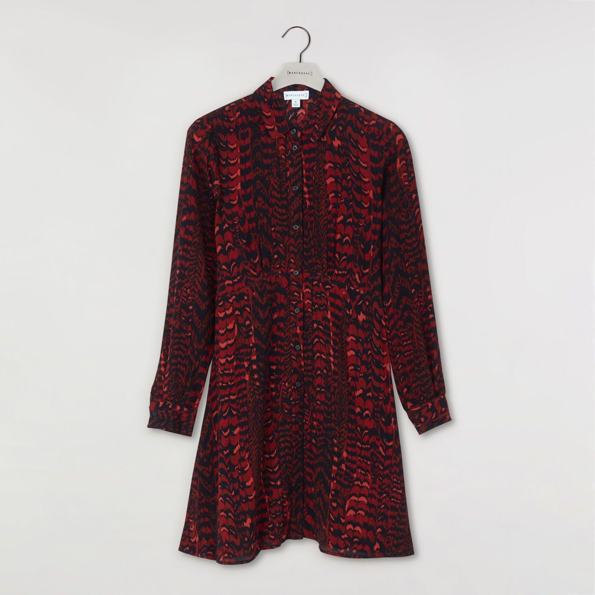 Idea By Warehouse On Trending Now Mini Shirt Dress Feathered Shirt Shirt Dress