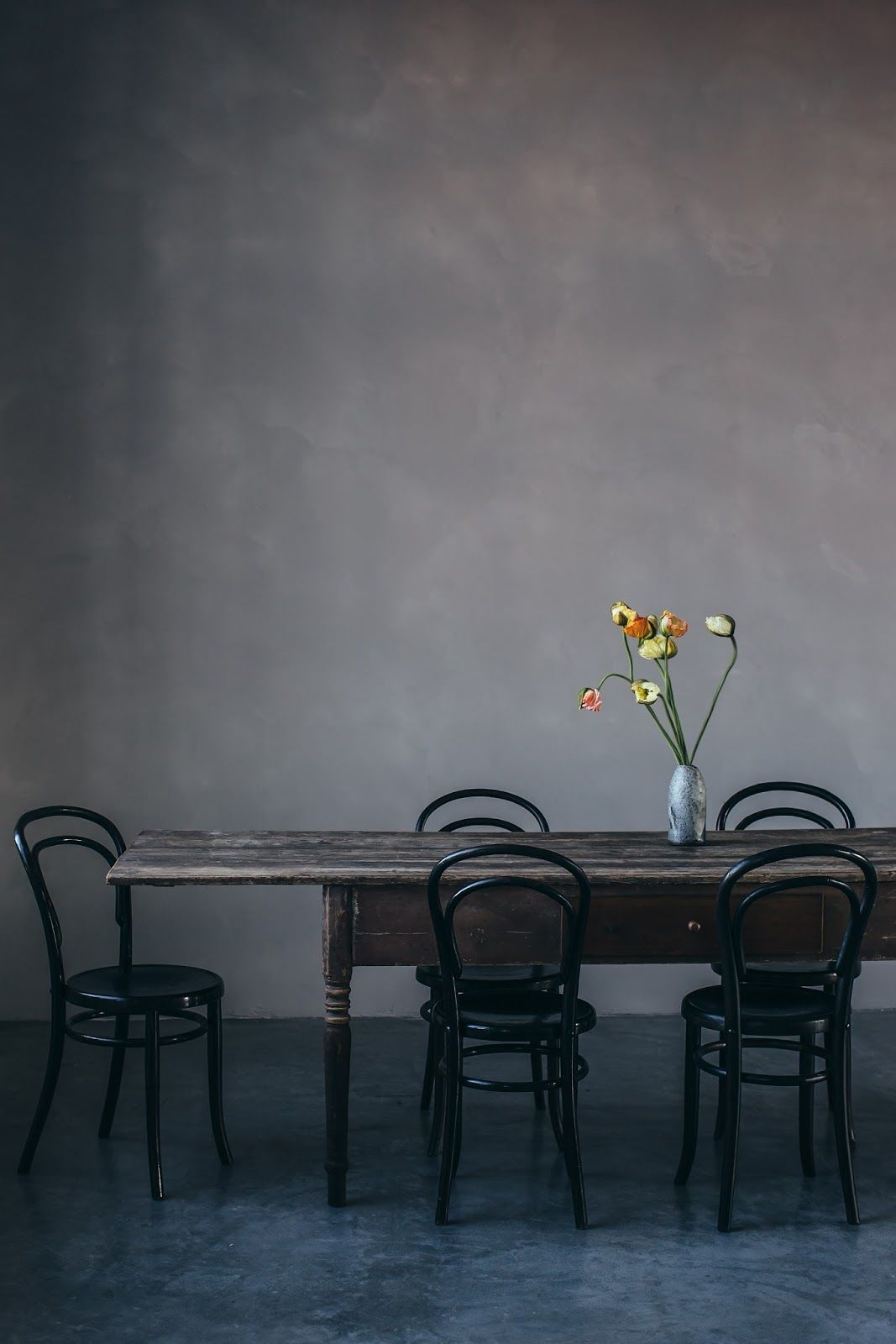 Antique farmhouse table venetian plaster and other modern plaster walls  berlin photos