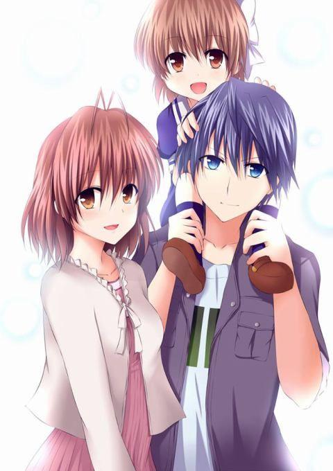 Clannad Ushio Y Nagisa Y Tomoya Buscar Con Google Anime Me Anime
