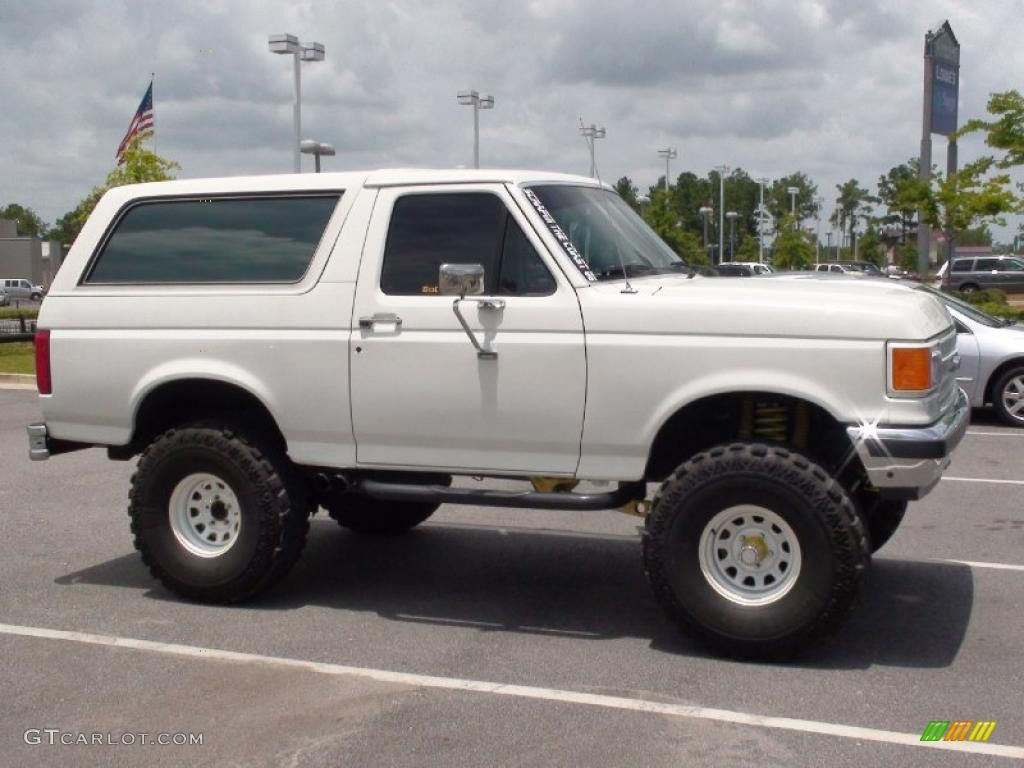 Ford bronco 1989 white ford bronco 4x4 33549305 photo 4 gtcarlot