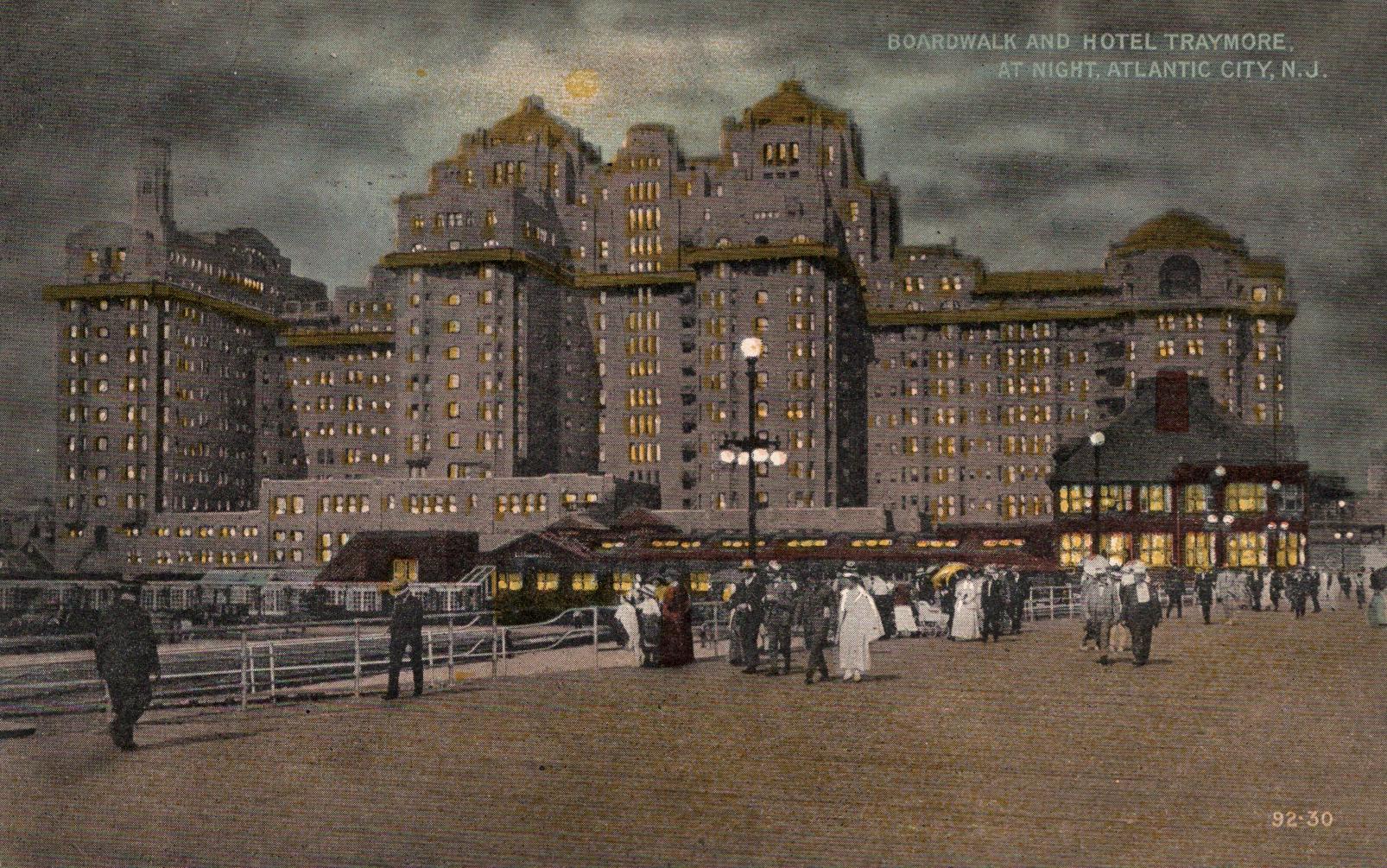 The Old Traymore Hotel Atlantic City Boardwalk Hotel Historic Hotels