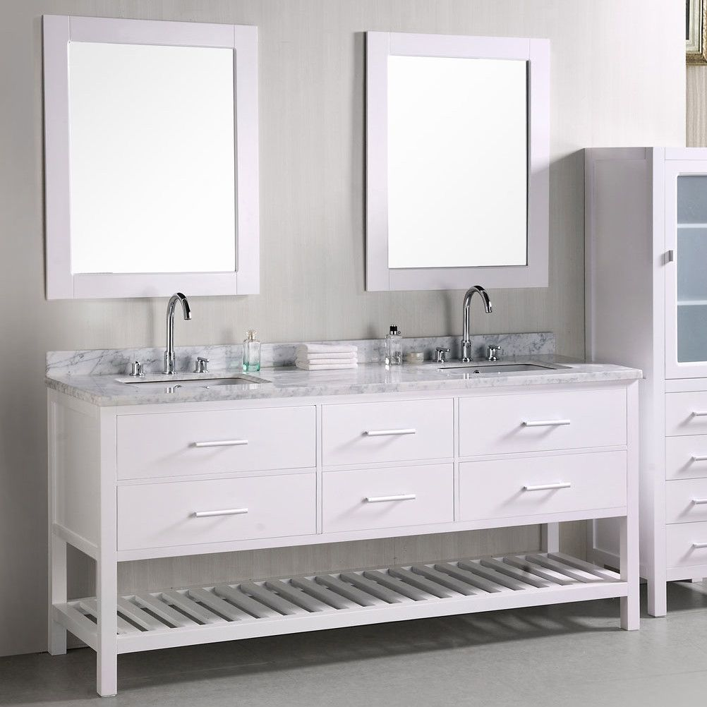 Design Element London 72 Double Bathroom Vanity Set With Mirror Bathroom Vanity Double Sink Vanity 72 Double Sink Vanity