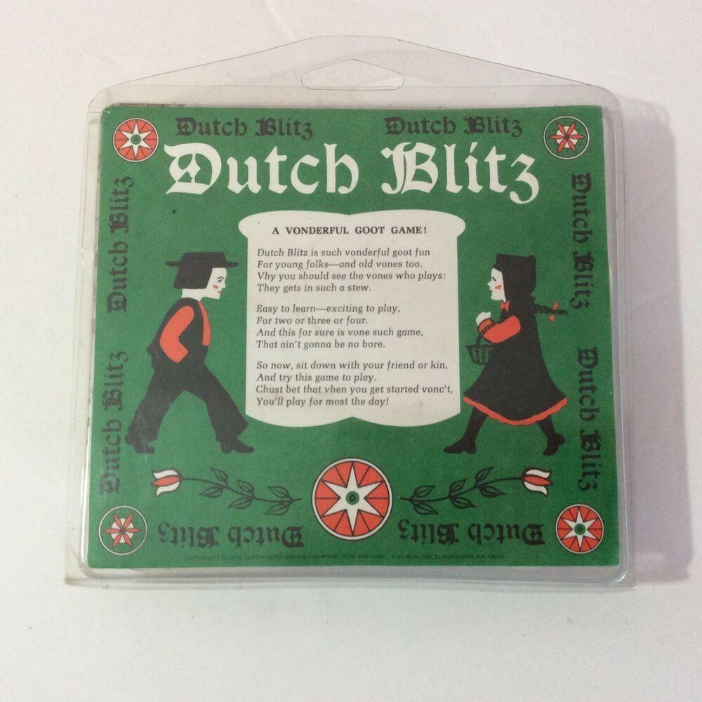 Dutch blitz card game 1973 complete vintage
