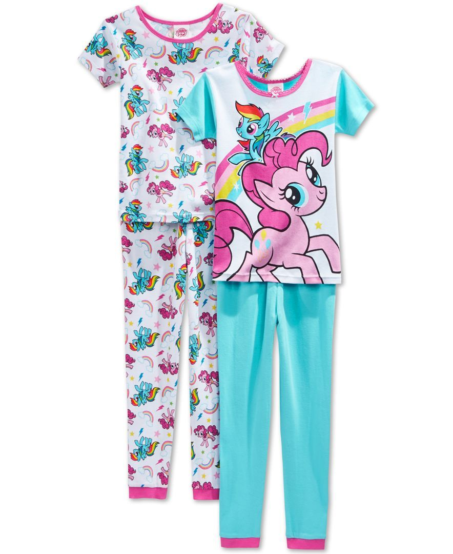 6cbcdccb21 Ame Girls  or Little Girls  4-Piece My Little Pony Pajama Set ...