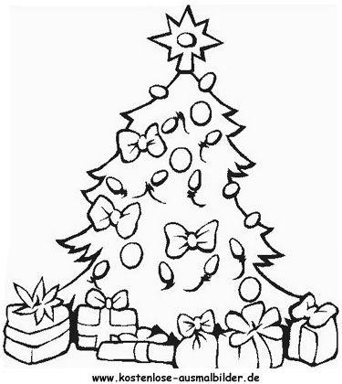 malvorlagen weihnachten weihnachtsbaum  Ausmalbilder fr kinder