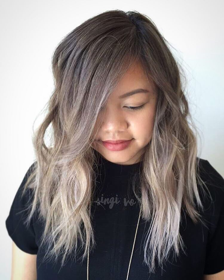 18++ Round face chubby face curtain bangs inspirations