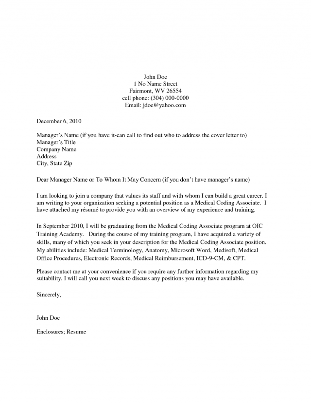Cover Letter Template No Recipient Name | Cover letter for ...