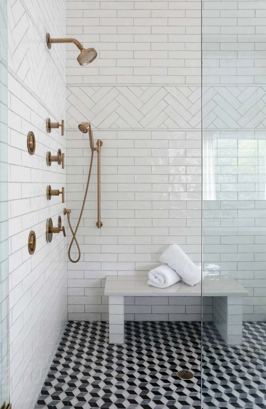 Cape Cod Colonial Home With A Modern Contemporary Twist In Nashville Beautiful Bathroom Designs Bathroom Shower Tile Doorless Shower
