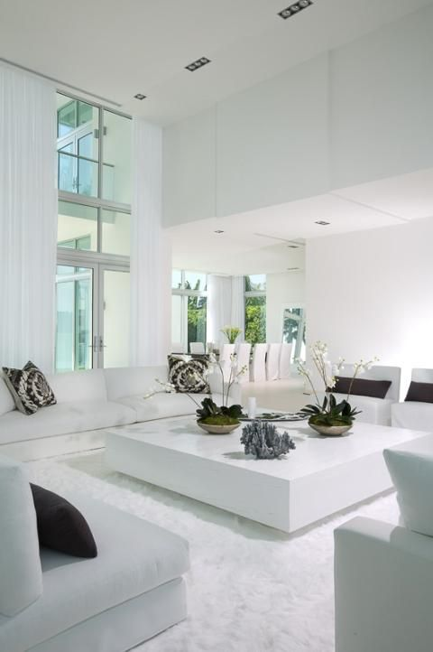Ordinaire The House Looks Dashing With A White Living Room Design