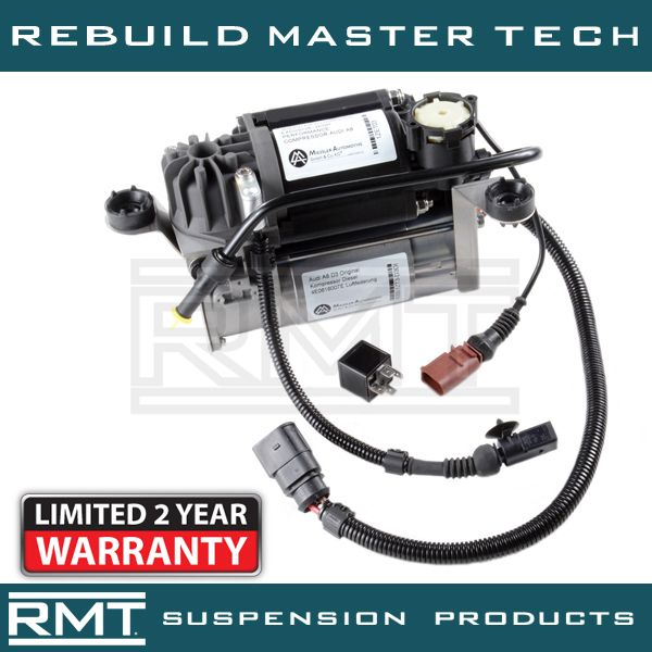 2009 Audi A8 Suspension: NEW MIESSLER Air Suspension Compressor & Relay Kit