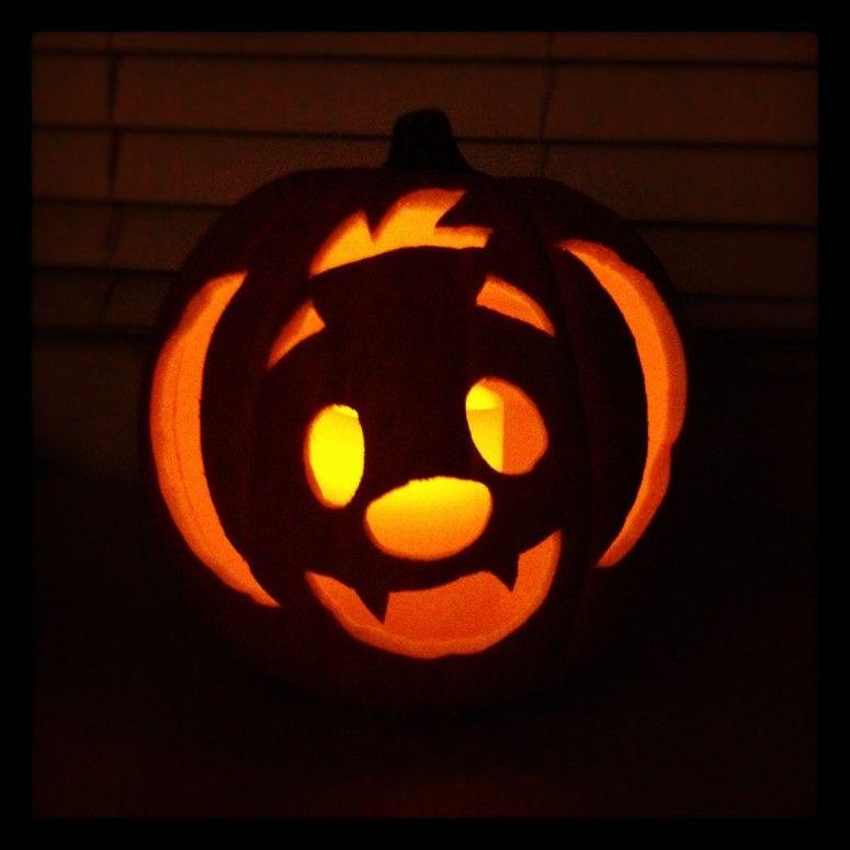 Cute Bat Pumpkin Easy Pumpkin Carving Pumpkin Carving Pumpkin Carvings Stencils