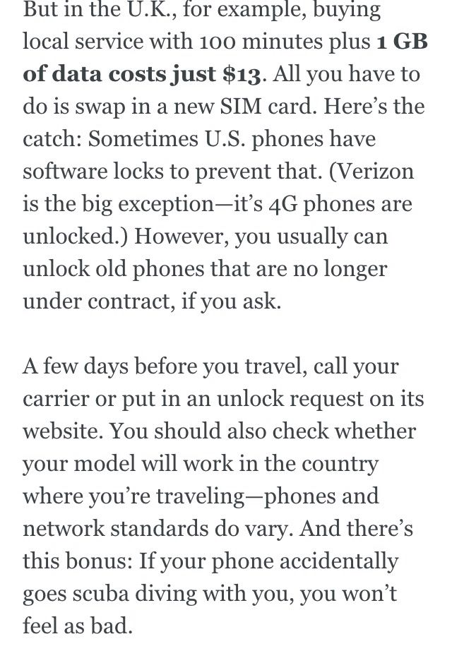 How to have a phone abroad on the cheap