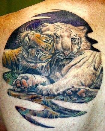 Bengal Tigers tattoo by Todo of McDonough, GA