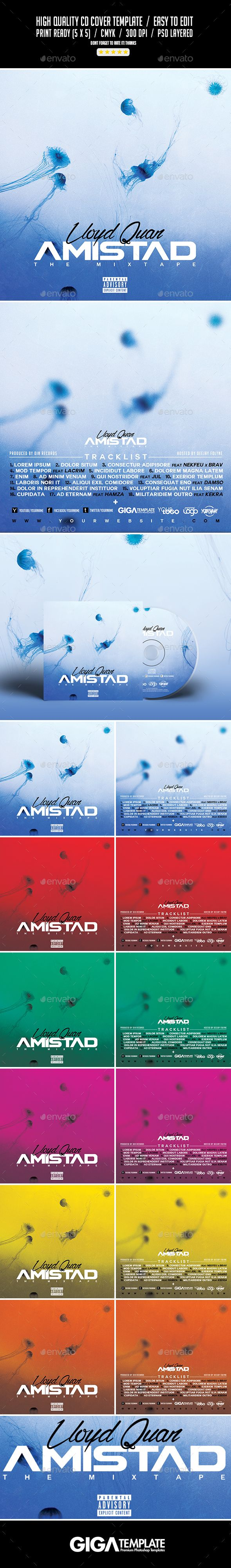 amistad album music mixtape cd cover template fonts logos icons