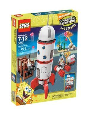 LEGO SpongeBob SquarePants Rocket Ride by LEGO. $139.99. They've got their nets, their moon buggy, their space suits and everything else they'll need on their trip.  Where will they end up this time?. All-new space-suited SpongeBob and Patrick and first-ever Sandy minifigure included!. SpongeBob, Patrick and Sandy are blasting off on an expedition to find alien jellyfish!. Features working loading bridge and opening rocket full of fun details to build and play wit...