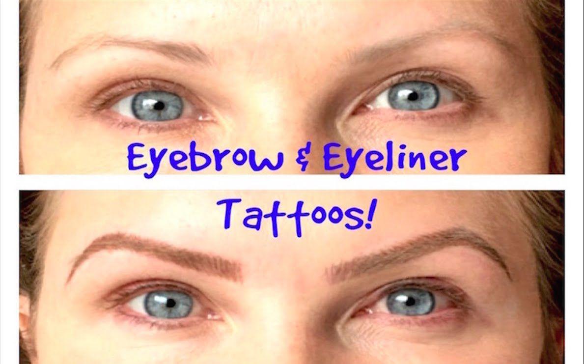 Eyebrows Eyeliner Tattoos Beforeafter Permanent Cosmetics