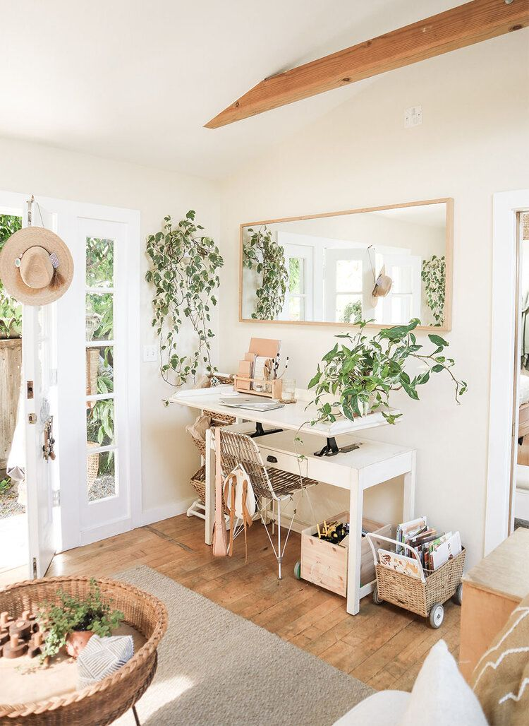 Before After Enhancing Small Indoor Outdoor Spaces With Mirrors The Tiny Canal Cottage In 2020 Tiny Home Office Small Space Office Small Space Living #office #space #living #room