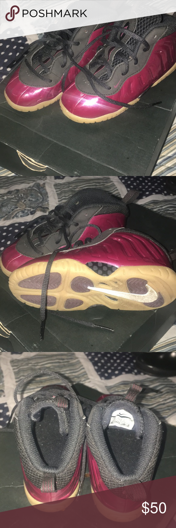 hot sale online 40e99 9dd07 Foams Peanut butter and jelly foams worn no box Jordan Shoes ...