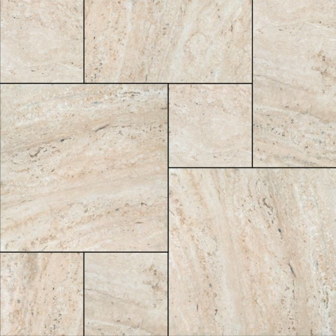 Nc228146 Travertine Look Porcelain In A French Pattern Tiles