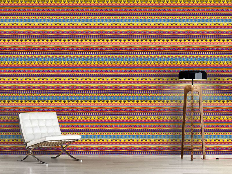 Design #Tapete Lustiger Inka Print