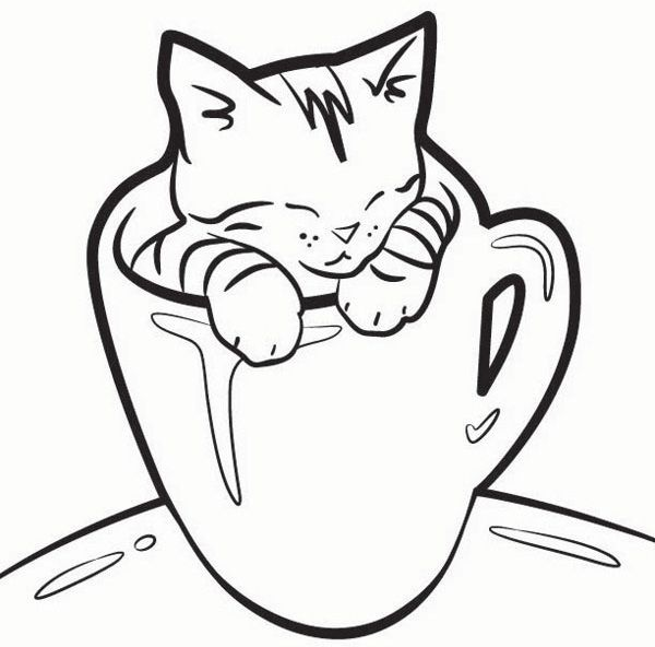 Lovely Kitten Coloring Pages http://procoloring.com/kitten ...