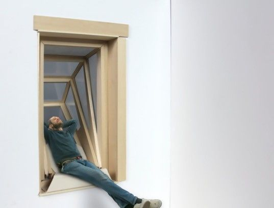 """Brilliant """"More Sky"""" window transforms into a cozy, sun-soaked balcony #realestate #feedly http://buff.ly/1WuUEN4"""