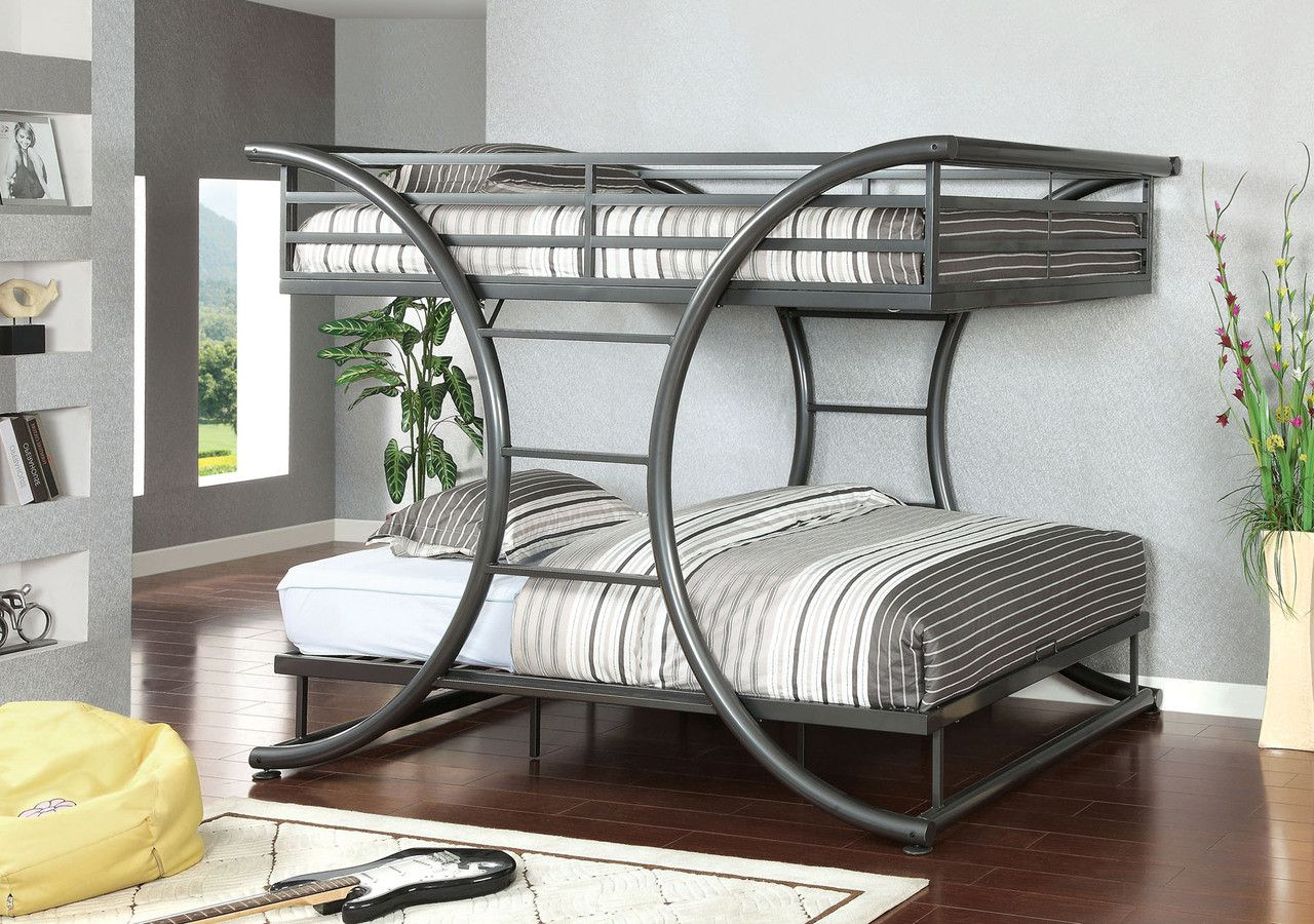 Best Full Full Metal Bunk Bed L Exis Collection Cm Bk1036Gm 400 x 300