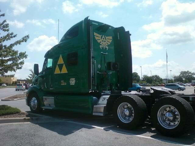 Semi truck from Hyrule  I want to shake this mans hand for