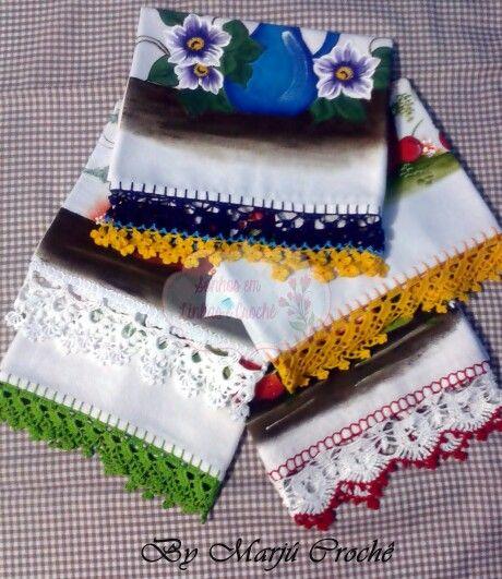 Colorido toda a cozinha! #crochê #crochet #valorizaçãodocrochê #marjúcrochê #sonhosemlinhasecroche