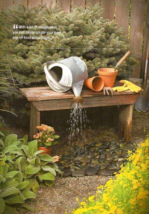 25 Diy Water Features Will Bring Tranquility Relaxation To Any Home Diy Waterfall Water