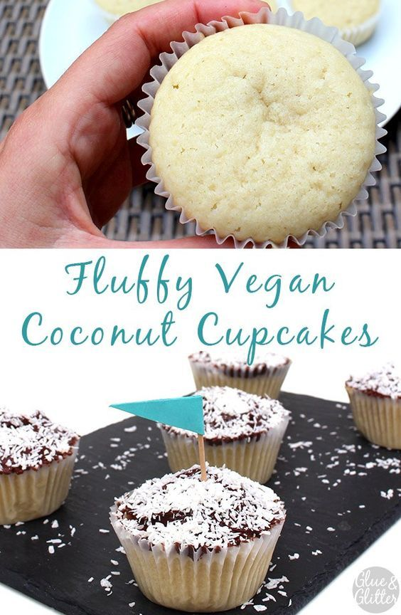 There is no artificial coconut flavoring in these fluffy, vegan coconut cupcakes, but they're still bursting with coconut flavor.