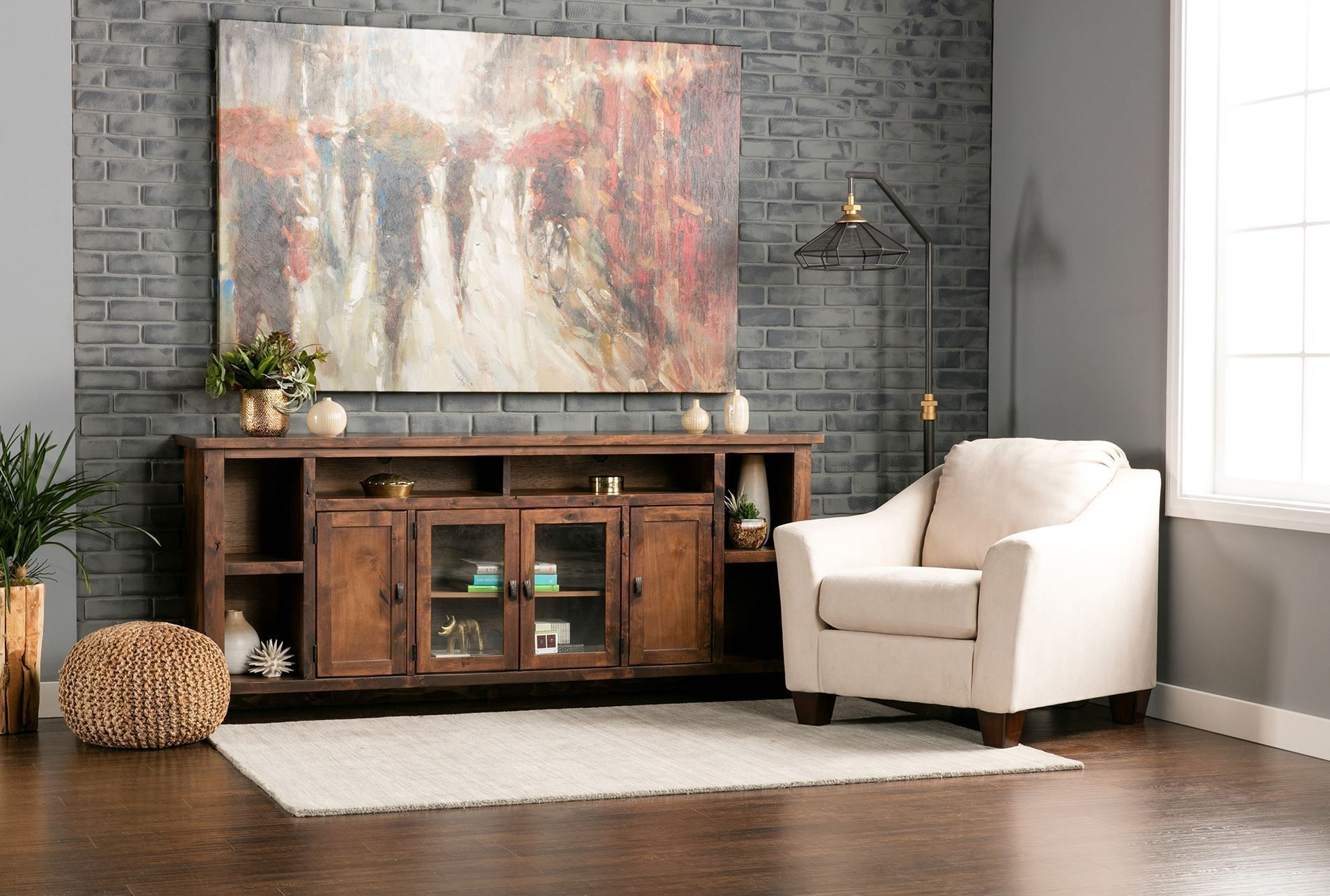 84 Inch Tv Stand Trent Fruitwood Consoles Living rooms and