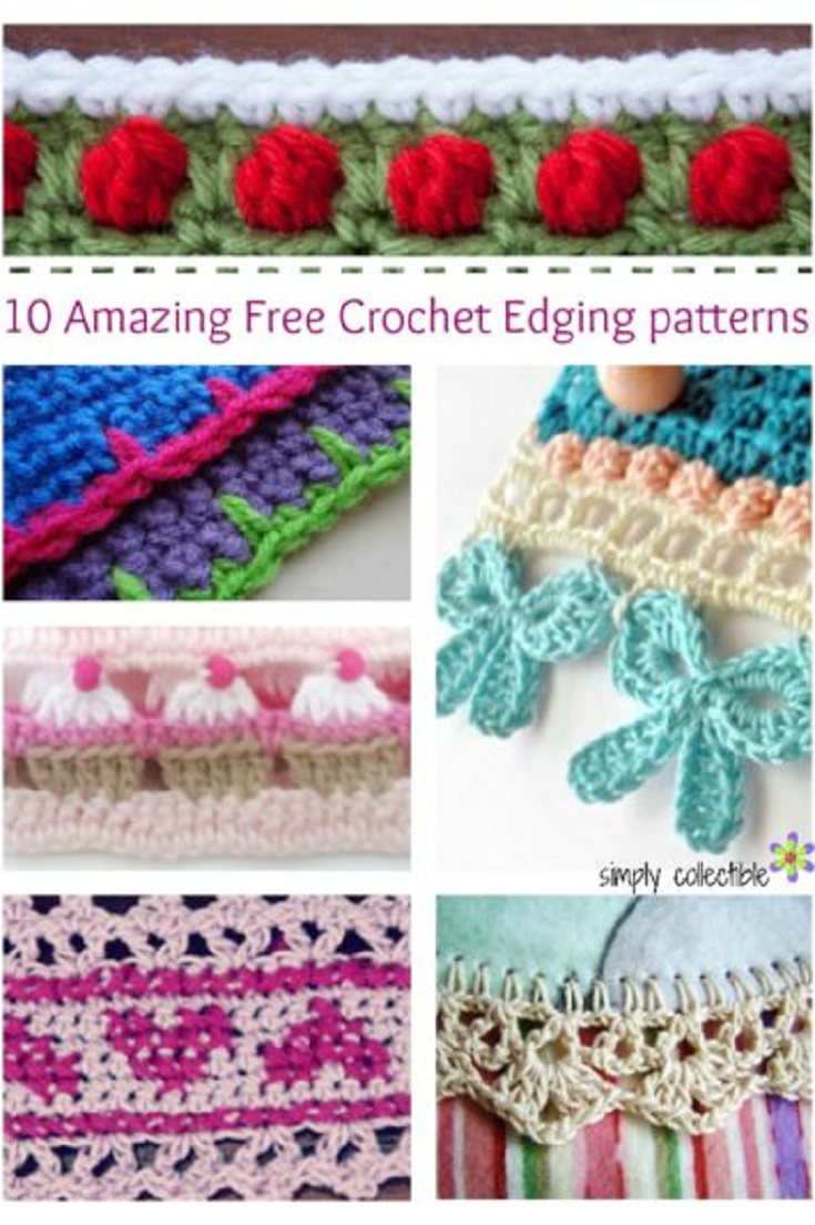 10 Amazing Free Crochet Edging patterns you will love! | Crochet ...