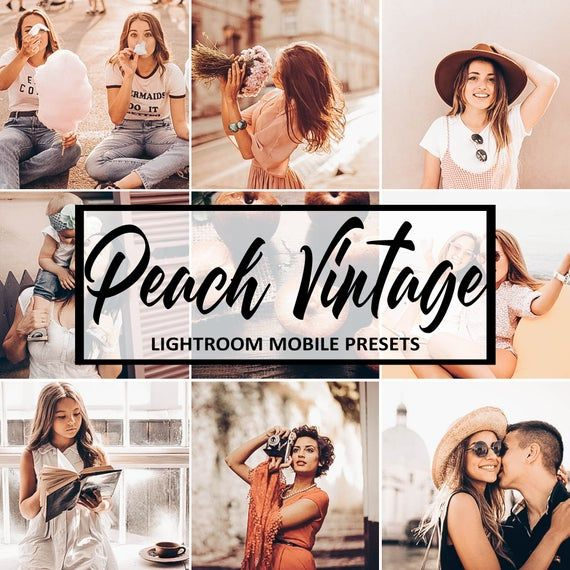 Peach Vintage Preset Presets Lightroom Mobile Lightroom Etsy Lightroom Presets Lightroom Instagram Lifestyle