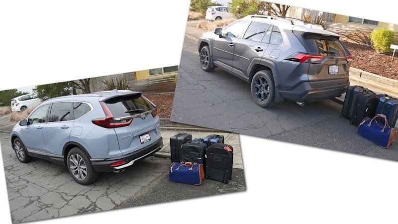 2020 Honda Cr V Vs 2020 Toyota Rav4 Cargo Comparison In 2020 With Images Honda Cr Toyota Rav4 Cars And Coffee