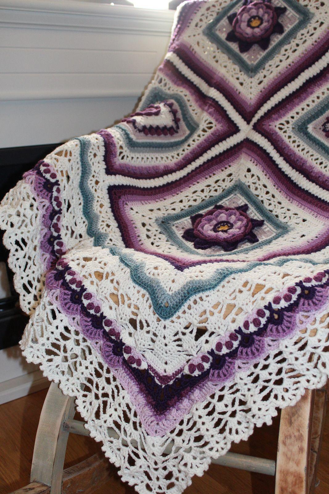Wild Roses Blanket Pattern By Heidi Heinrichs Mutze Hakeln Baby