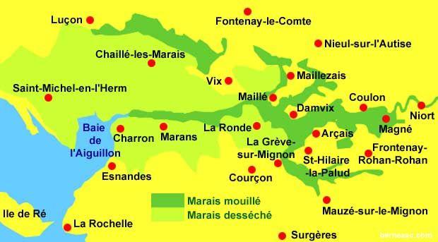 Marais Poitevin Marais Mouilles Et Marais Desseches Marais