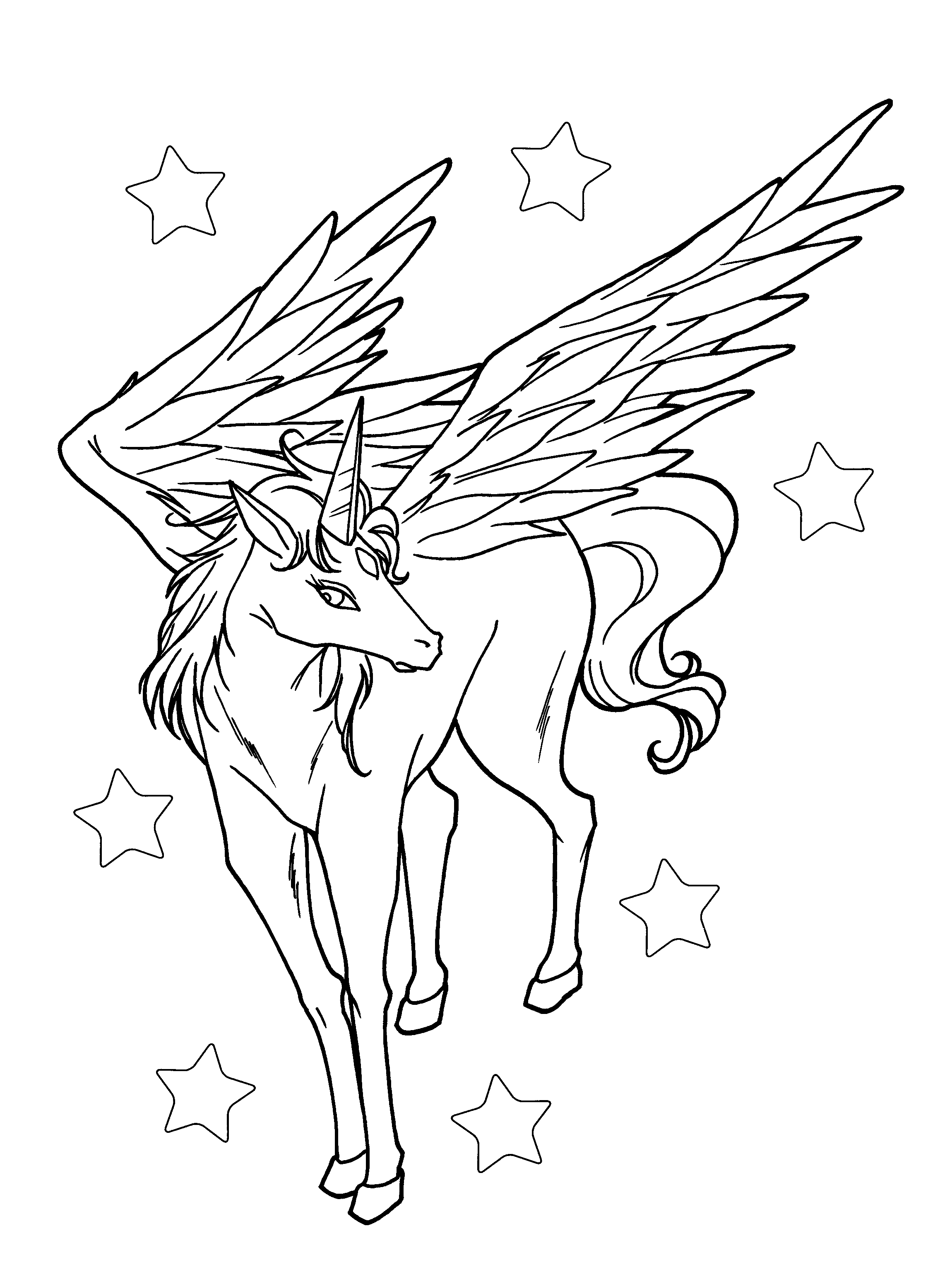 Pegasus Is Staring With Beautiful Eyes Coloring Pages For Kids Dlg Printable Pegasus C Star Coloring Pages Unicorn Coloring Pages Sailor Moon Coloring Pages