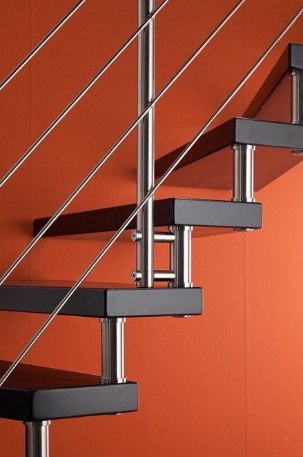 Escalier Epura Avec Plots Poteaux Et Joncs Inox Escalier