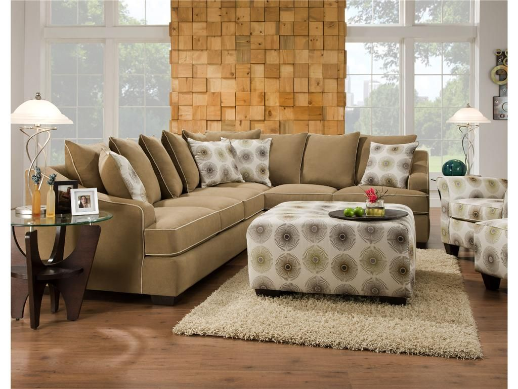 Corinthian Living Room 2 Piece Sectional G57202 Kittle S Furniture Furniture Contemporary Sectional Sofa Cool Couches