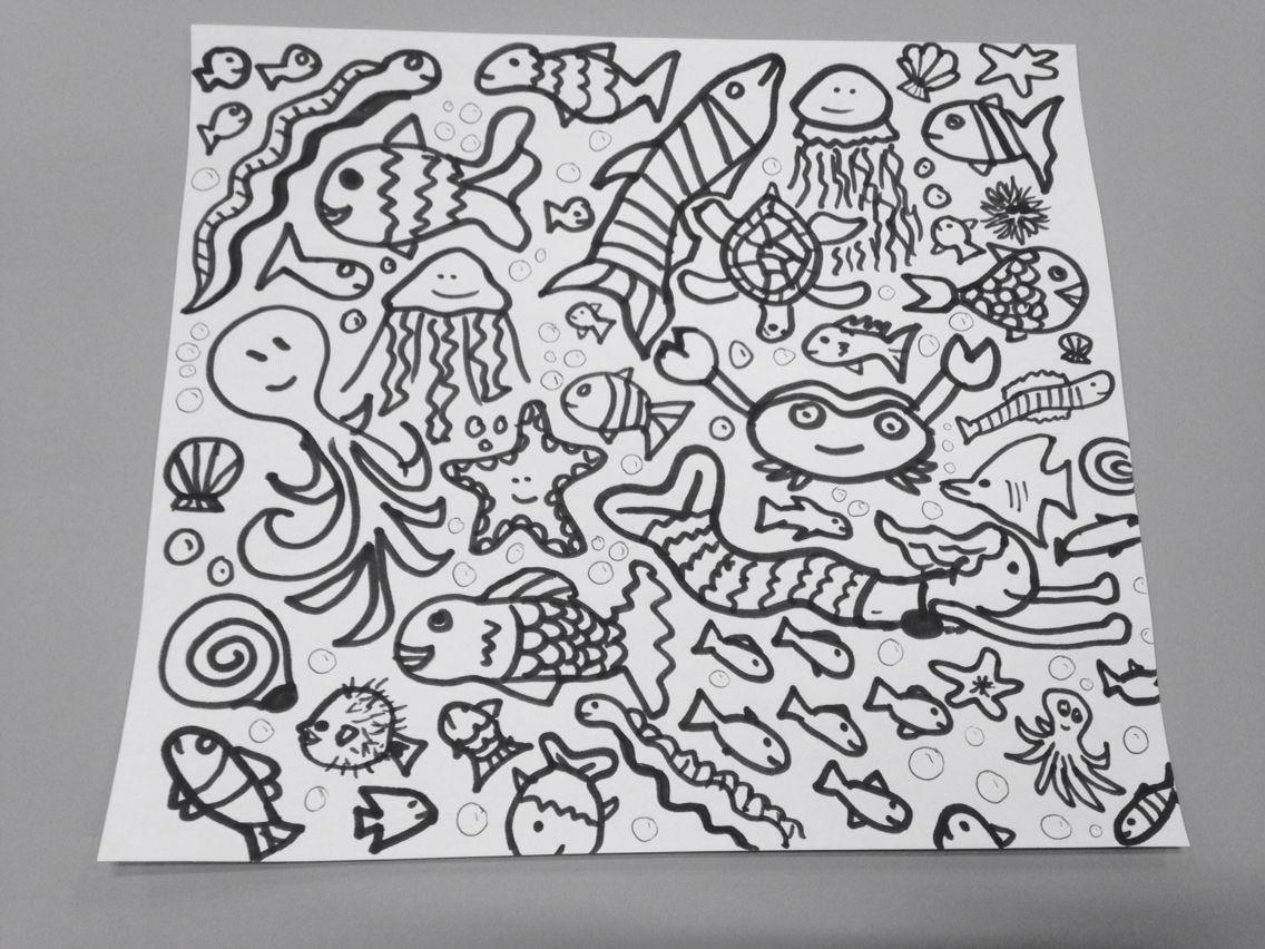 Kleurplaat Onder Water Dieren Groep 2 Dieren Kleurplaten Thema
