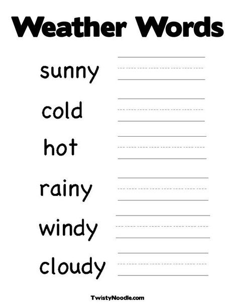 new weather words worksheet from preschool weather words spring coloring. Black Bedroom Furniture Sets. Home Design Ideas