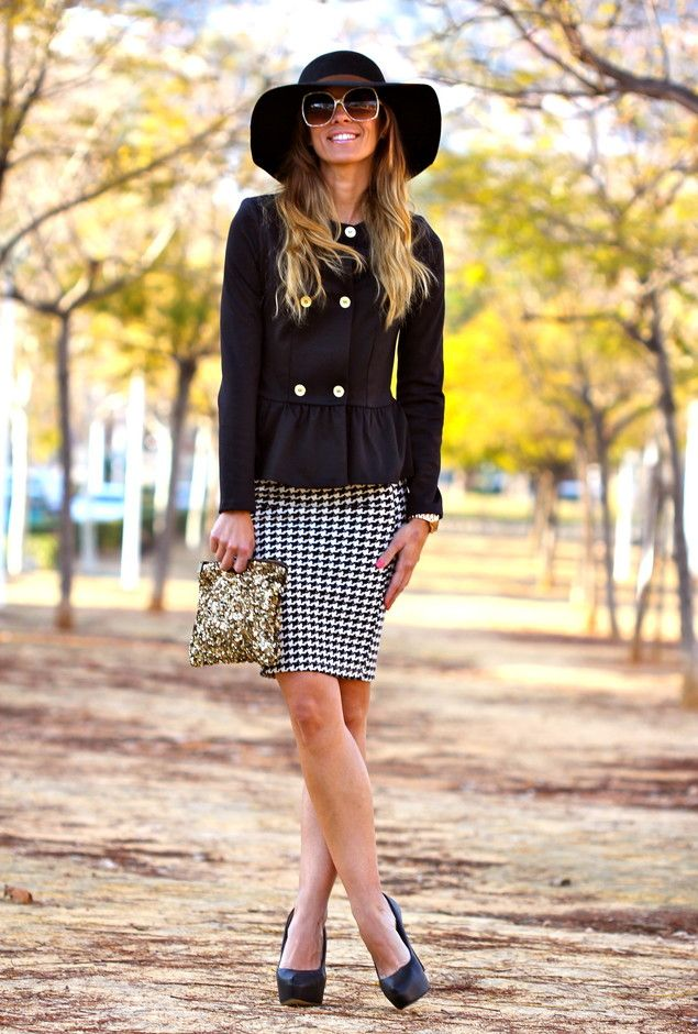 d973578354 Mix up your pencil skirts from the plain black. Add some texture and  pattern.