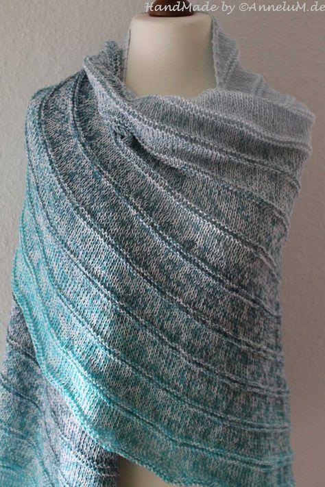 Mein zweites modern love tuch knitted patterns stricken h keln schultertuch stricken - Moderne schals stricken ...