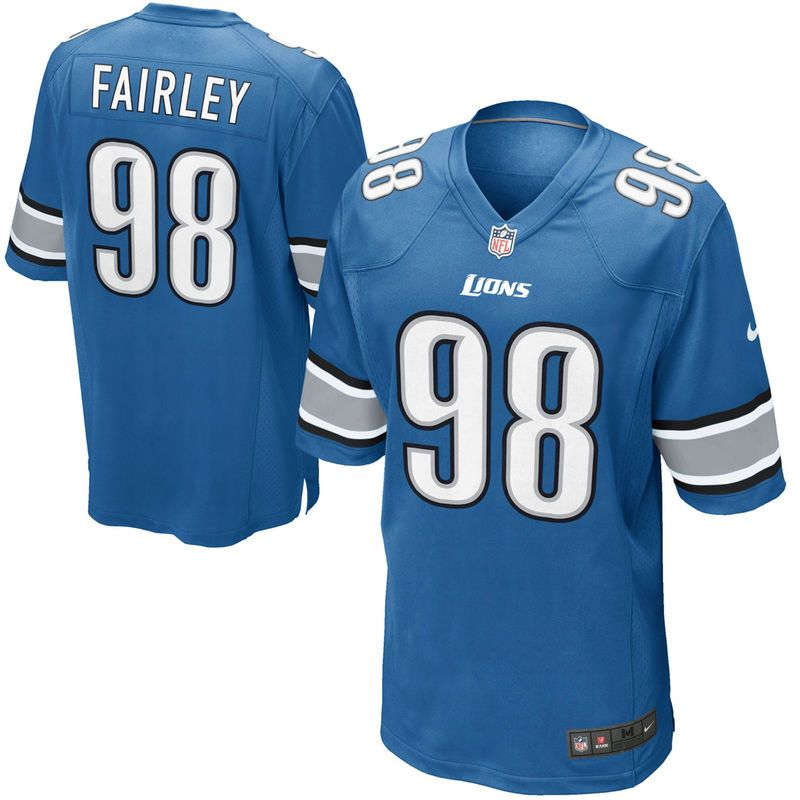 Nick Fairley Detroit Lions Nike Game Jersey - Light Blue  1571a1be3