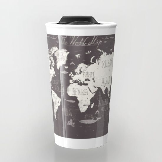 The world map travel mug gumiabroncs