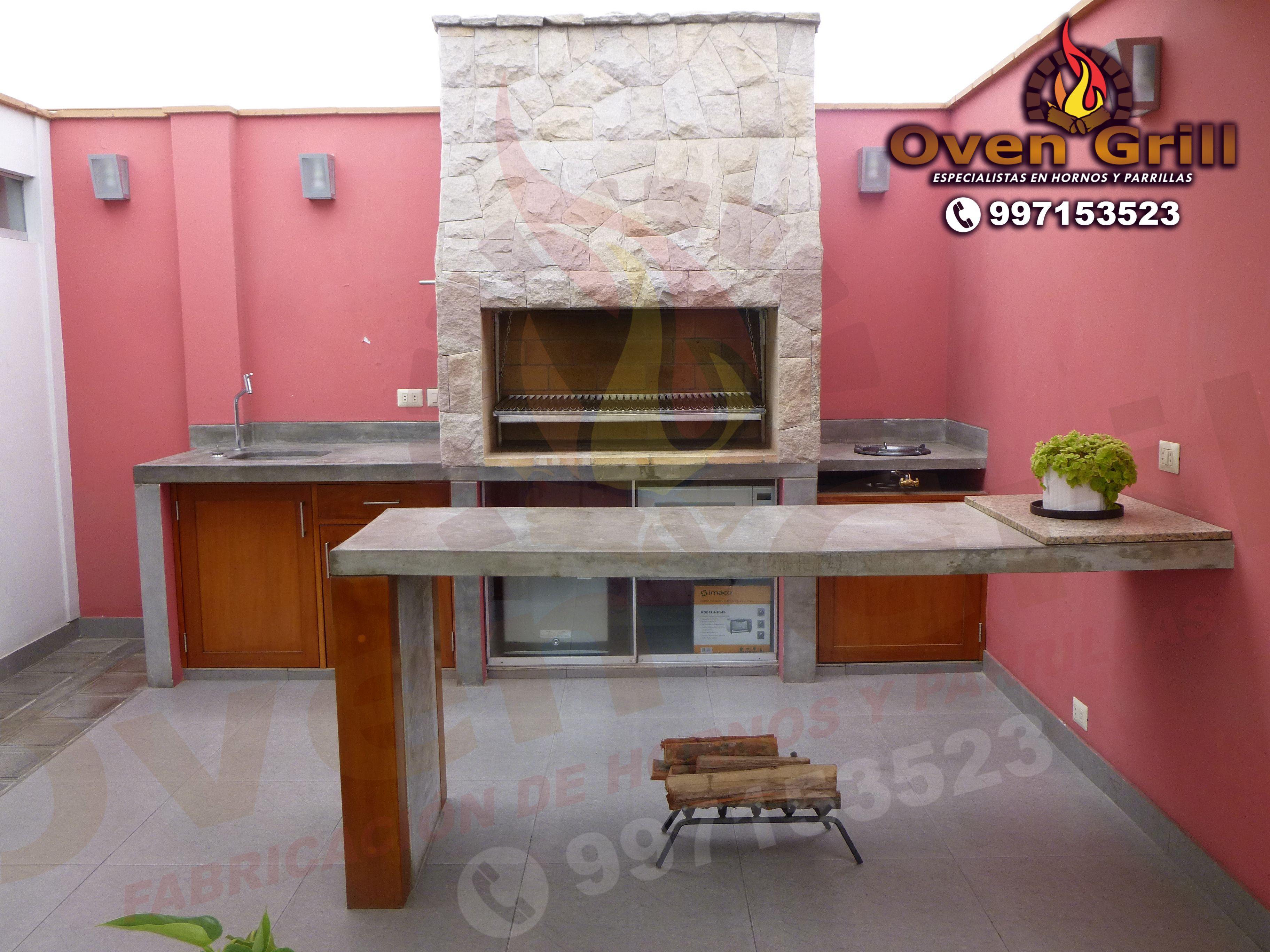 asador de piedra moderno oven grill cel 997153523