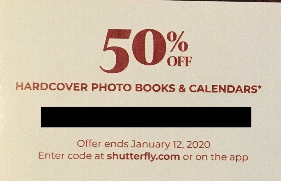 Shutterfly Coupon 50 Off Hardcover photo books and