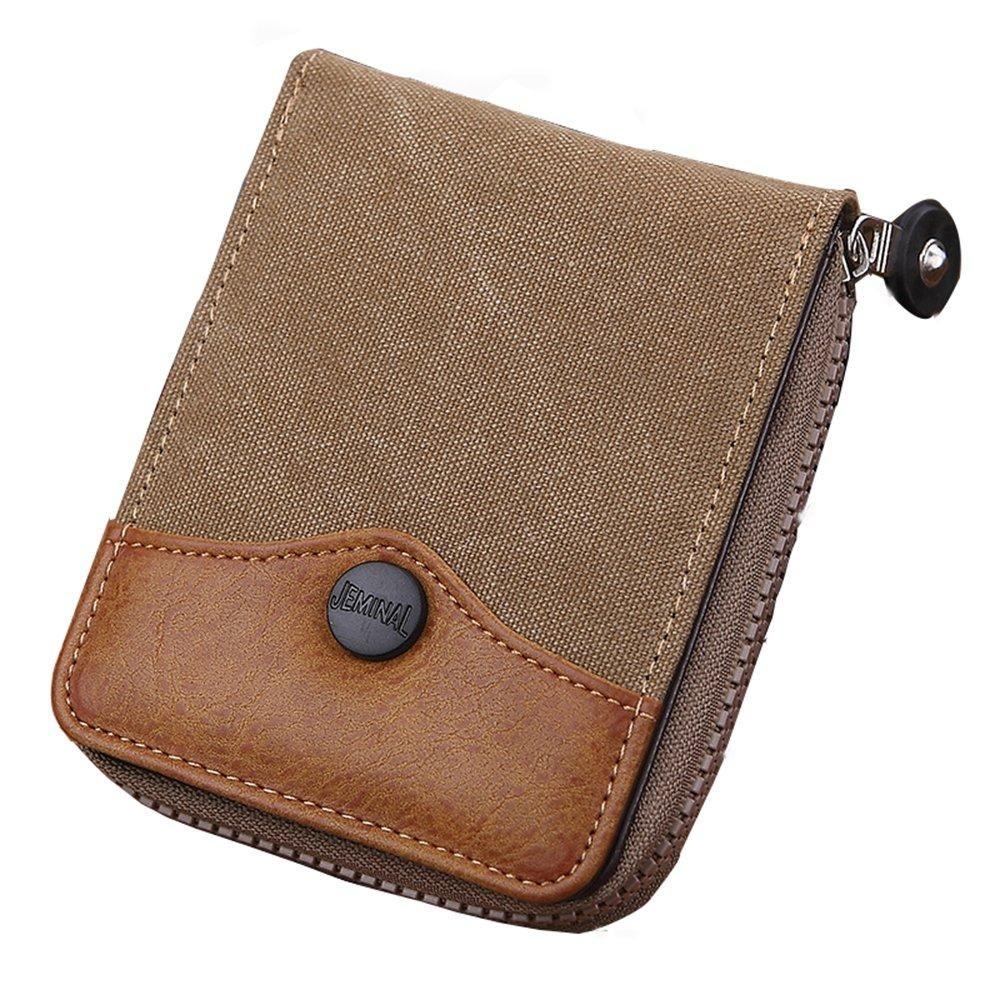 5fea756e3481 RETON Men Quality Denim Canvas Wallet Double Large Capacity Short ...